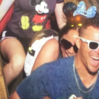 Confession: I also bit (yes clenched on with my teeth) Brian's back on Splash Mountain.